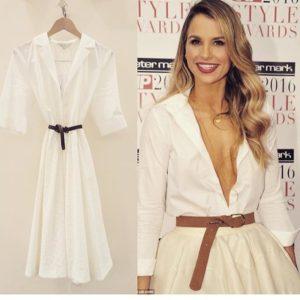 White A Line Shirt Dress