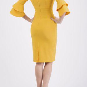 Meridian Frill Sleeve Dress