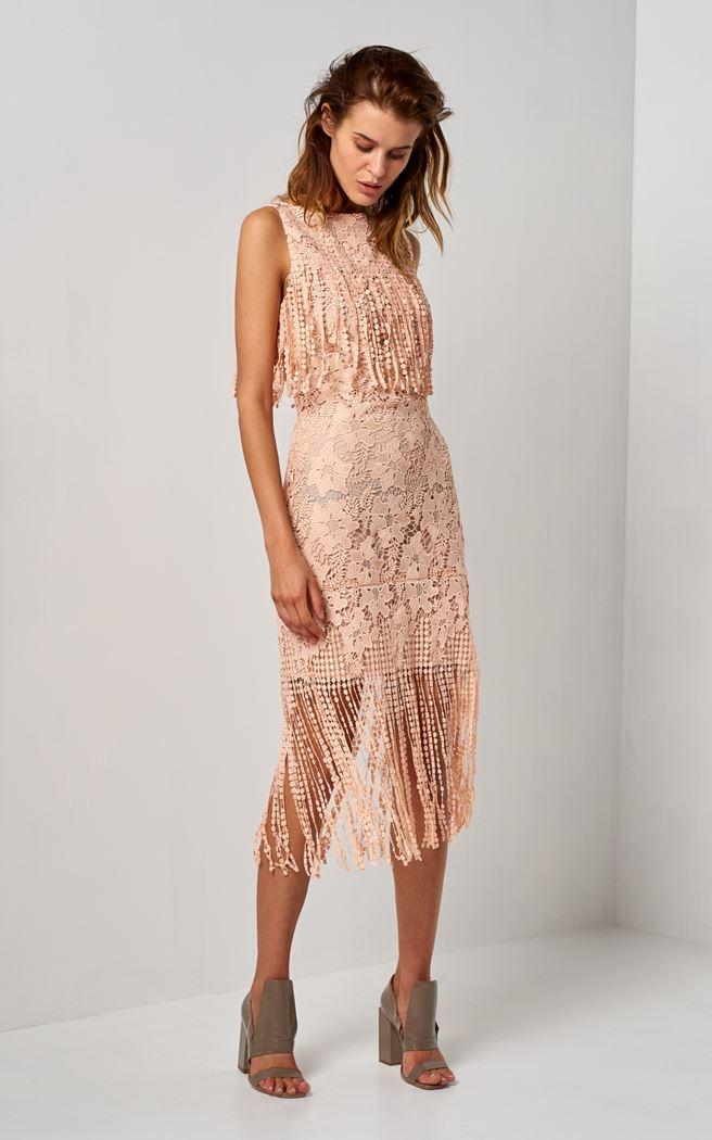 Lace Fringe Dress