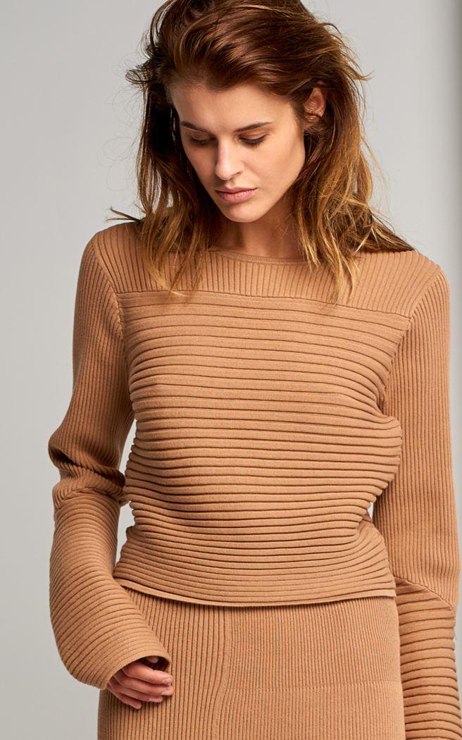 Rib Effect Crop Sweater