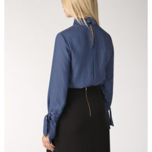 Tie Bow Neck and Cuff Blouse