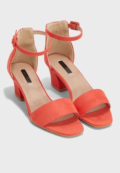 fdaa8d185e Low Block Heel Sandal Coral – Divine Boutique