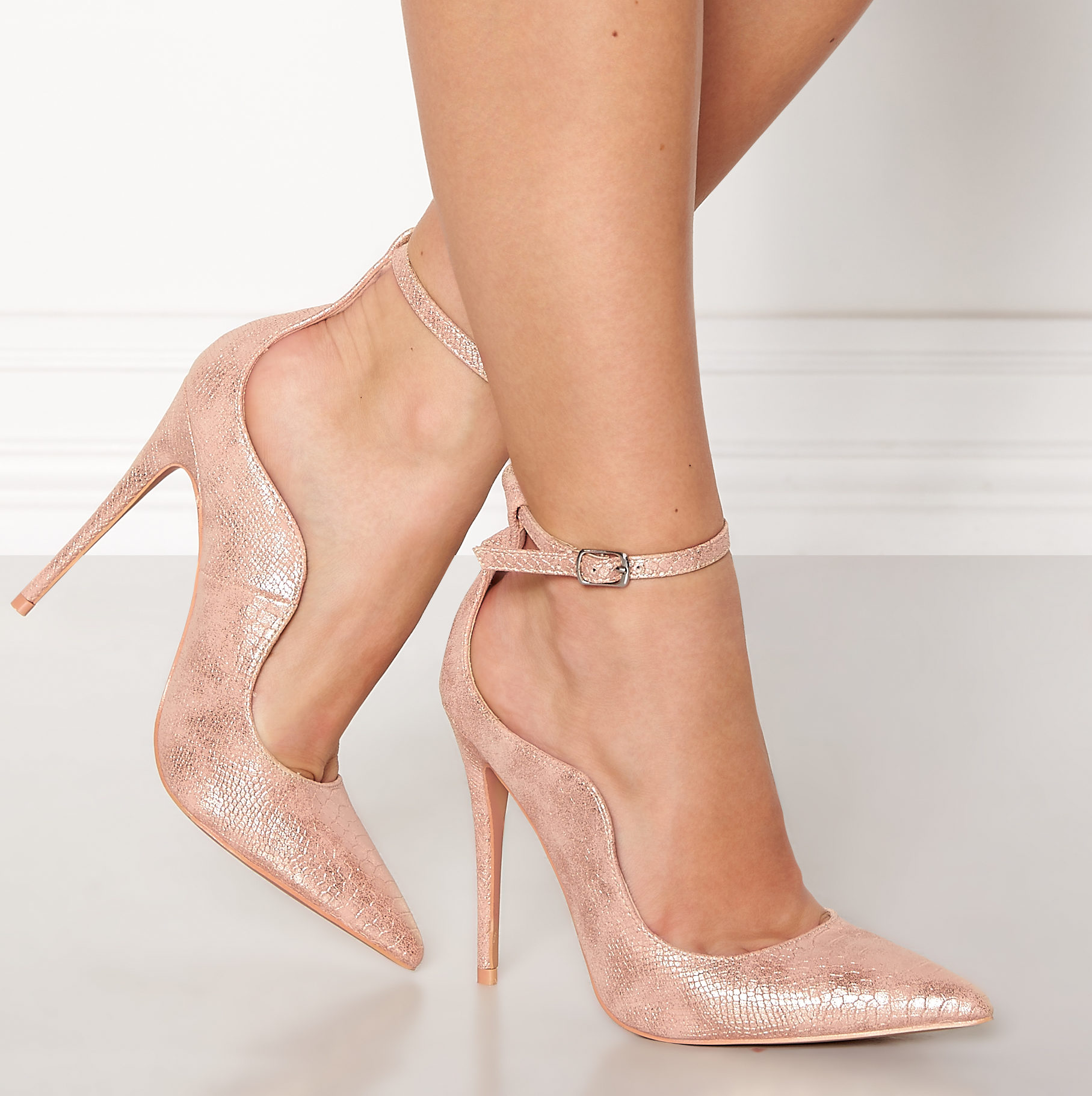f1a27aa8b37 Palm Curved Ankle Strap Rose Gold – Divine Boutique