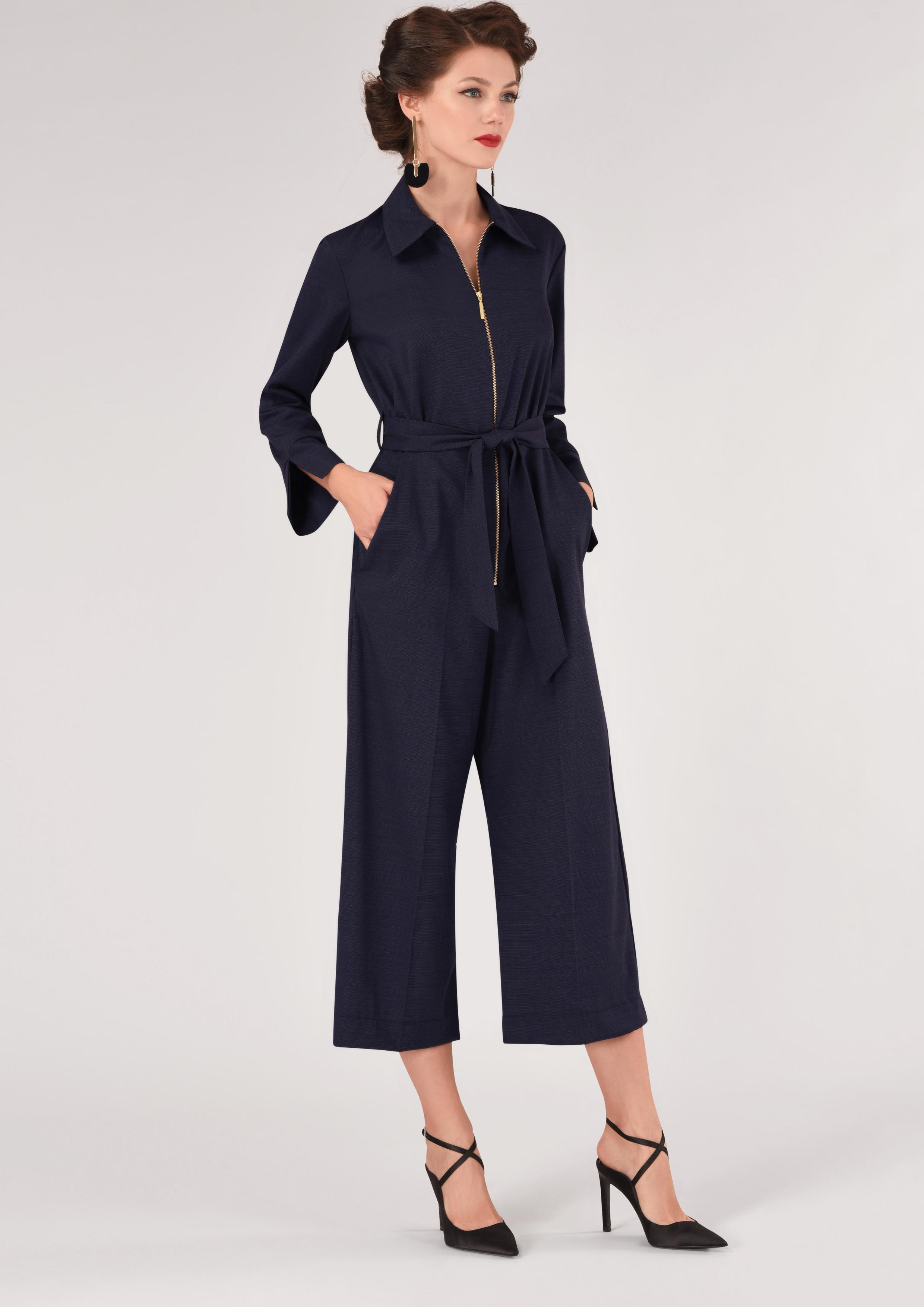 092f120a21a Navy Wide Leg Shirt Jumpsuit – Divine Boutique