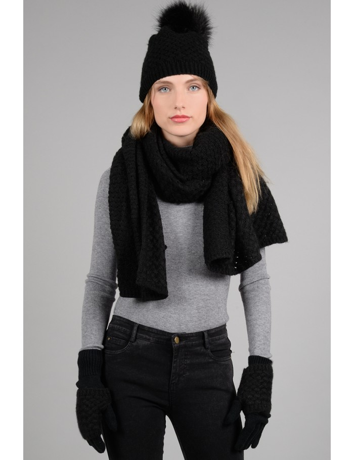 5a27b4b276a Black Knit Hat ...