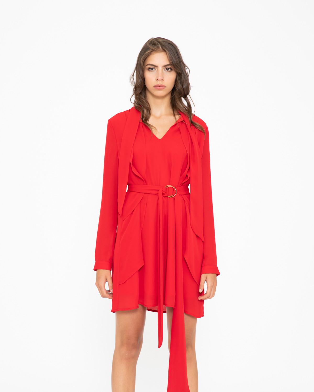 83997d4da2fe Red Mogente Drape Dress – Divine Boutique