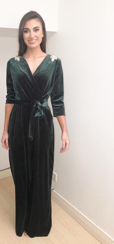 ef00008dfaa Velvet Green Jumpsuit – Divine Boutique