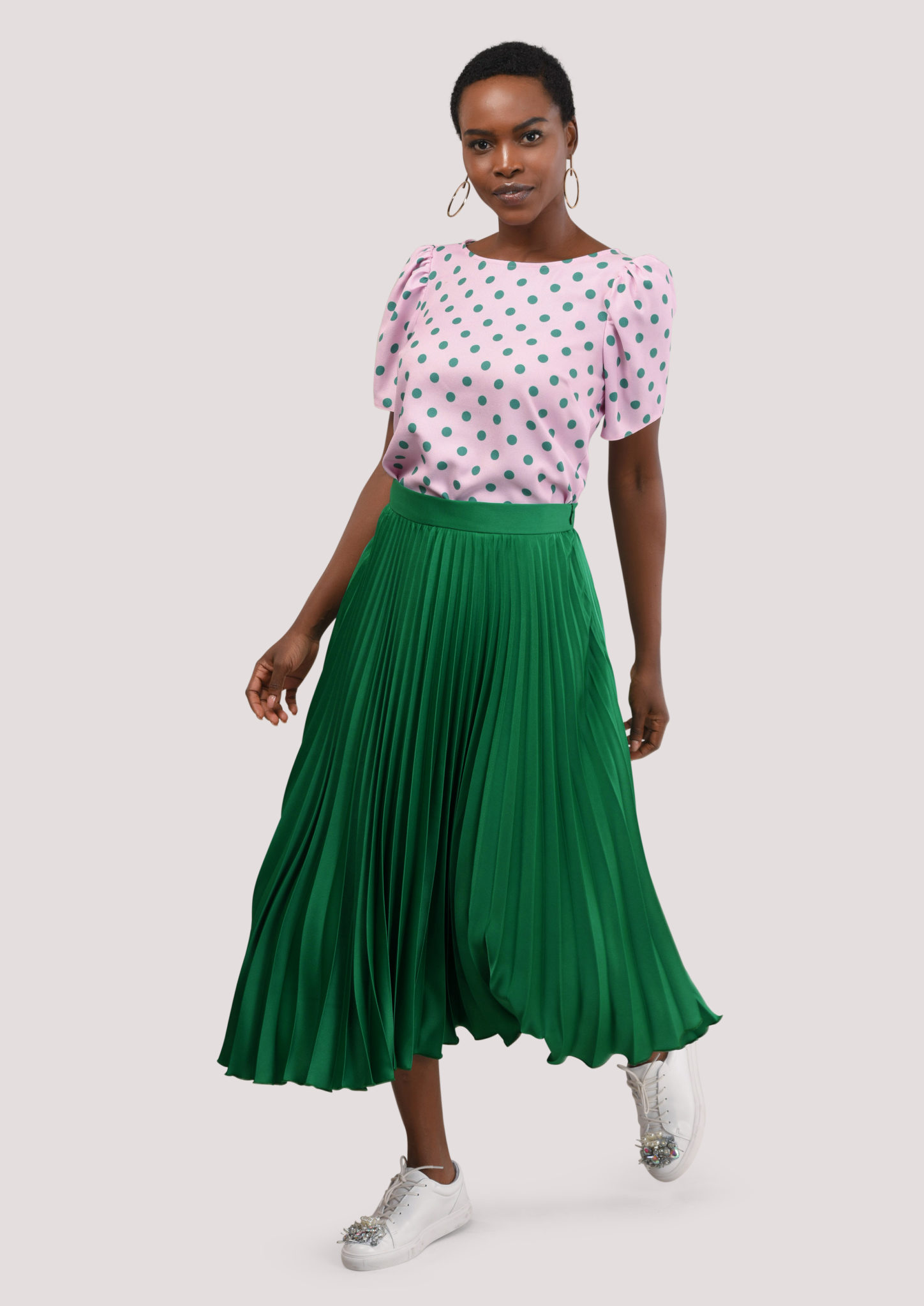 cac09c8a0f Green Pleated Midi Skirt – Divine Boutique