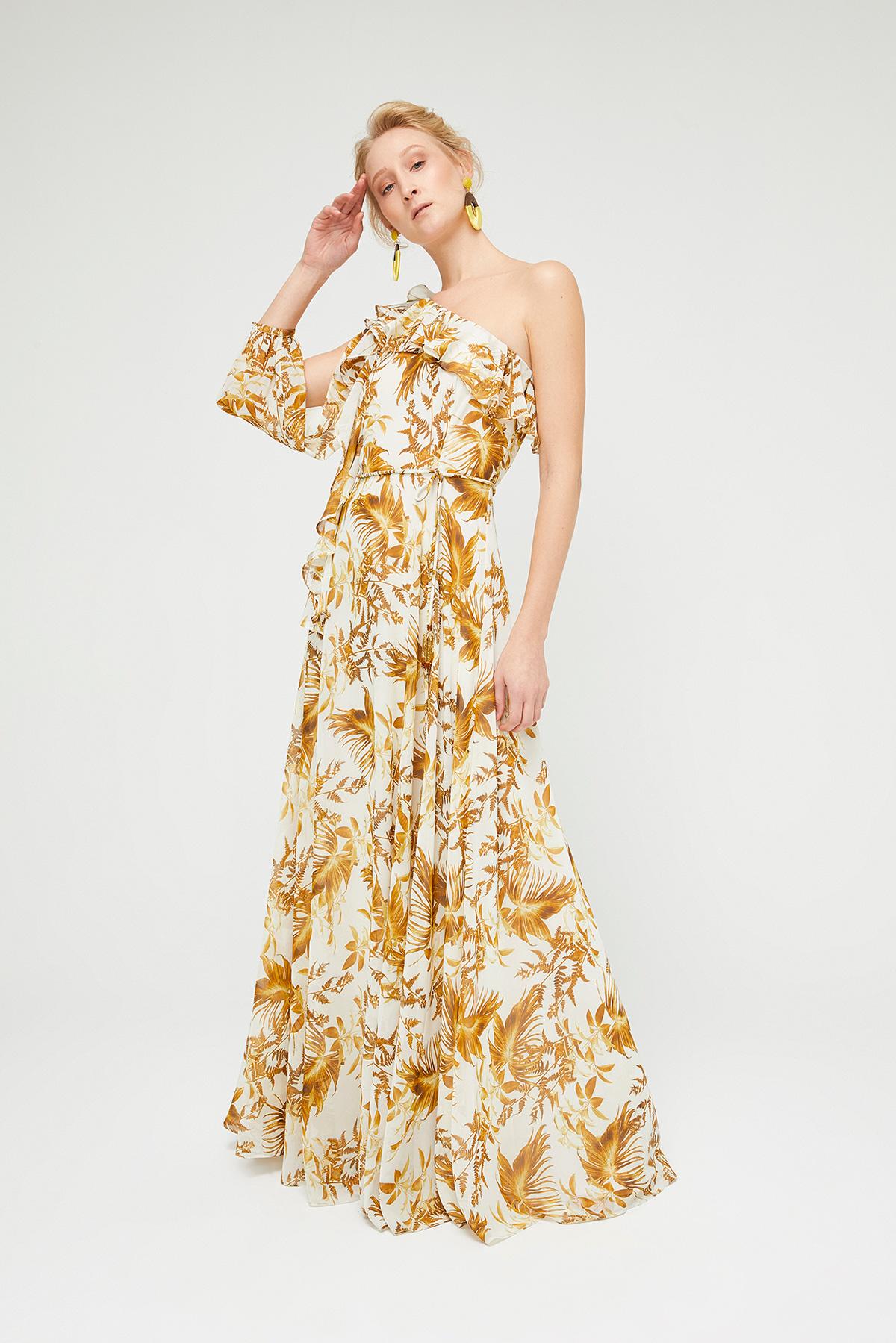 49388ab72e243 Saffron One Shoulder Maxi Dress – Divine Boutique