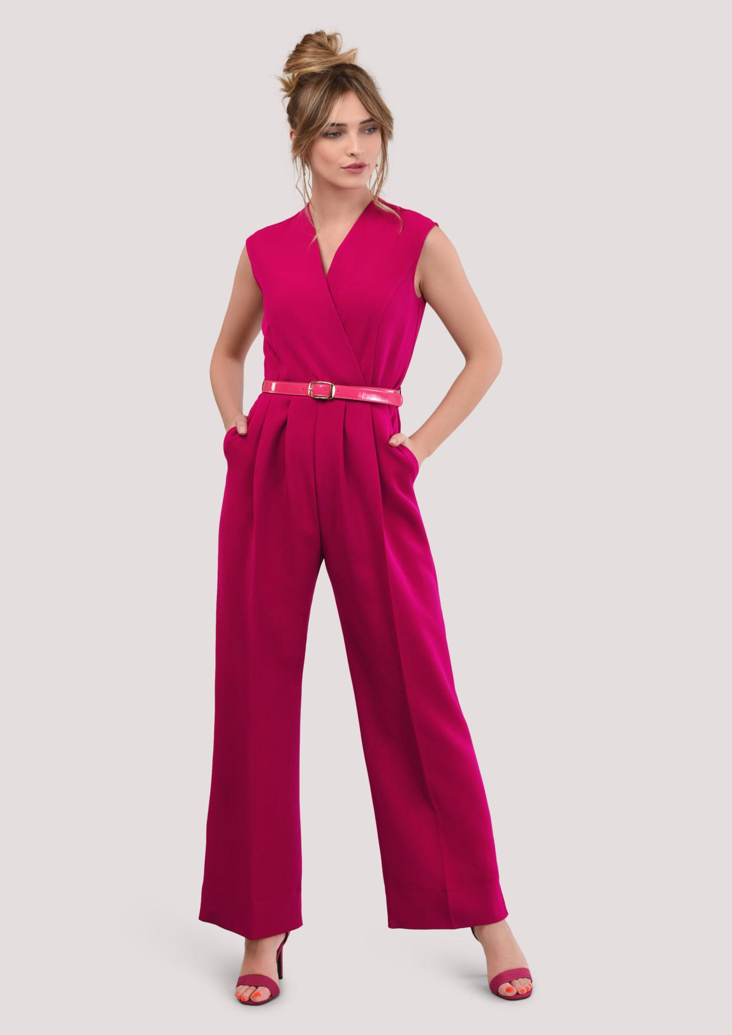 337e2f1570ab Magenta Princess Seam Jumpsuit – Divine Boutique