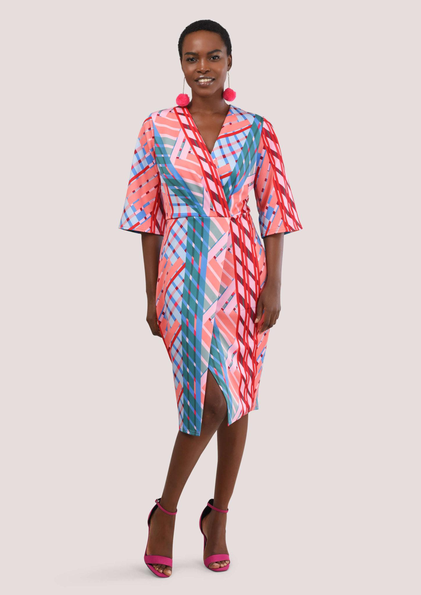 Bell Sleeve Print Dress – Divine Boutique 6c45ea68d